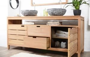Pourquoi meubler votre salle de bain en bois dans votre - Meuble de salle de bain en bois massif ...
